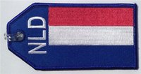 Wholesale The Netherlands Flag Travel Name Tag For Luggage Crew Gadgets Custom Embroidery per