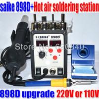 Wholesale 110V or V D the upgrade version D hot air gun rework station soldering station BGA Hot Air Rework Station Reballing order lt no
