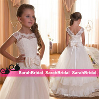 baby corsets - 2016 First Little Flower Girls Dresses Corset Lace up For Sale Baby Bridesmaid Cheap Wedding Princess Style Skirt Vintage Bridal Party Gowns