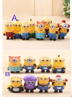 baby xmas stocking - 2015 hot Baby Pieces Set Minions Figures Toys Set Despicable Me PVC doll cm Despicable Me D Eye For Xmas Gift In Stock High Quality