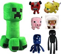 Wholesale Minecraft Action Figure Soft Plush Toys Enderman Creeper Ocelot Squid in Hot Games Figures
