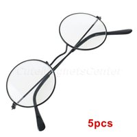 animal jobs - Hot Selling Eye Glasses Nerd Bookworm Classic Metal Harry Potter Style Glasses Steve Jobs Round Frame Halloween Party Costume