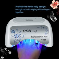 Wholesale Beautiful UV LED CCFL W nail lamp for Nail Ger Dryer curing polish Tool stock in US DE