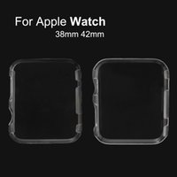 Wholesale iWatch Crystal Clear Plastic Hard PC Case For Apple Watch mm mm Bag Back Cover For Apple Watch Edition Sport