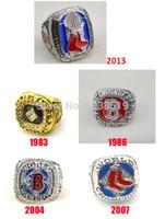 Réplica de MLB envío libre 1983 1986 2004 2007 2013 Boston Red Sox de béisbol Anillo Campeonato Mundial