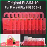 Wholesale Original R SIM rsim R SIM RSIM10 nano cloud unlock card for iphone plus s s IOS8 X AT T T mobile Sprint WCDMA GSM CDMA