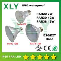 Wholesale DHL FEDEX PAR20 PAR30 PAR38 Waterproof IP65 Degree W W W Led Spot Light Bulbs Led Lamps AC85 V Year Warranty