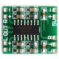 Wholesale PAM8403 module Super mini digital amplifier board W Class D digital amplifier board efficient to V USB power supply