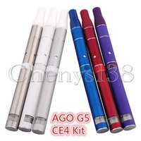 stainless e liquid flavor - AGO G5 CE4 Kit E cigarette Avaliable for Cut tobacco and solid e flavor e liquid use G5 vaporizer with LCD screen