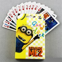 Wholesale Despicable Me Minions Minion Poker D Playing card cartoon Paper Card Games Children Kids Adults Toys Christmas Gifts DHL