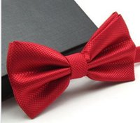 Wholesale hot Prom slim bow tie for men fashion mens wedding bowties butterfly cravat bowtie male solid color marriage bow ties for men top quality