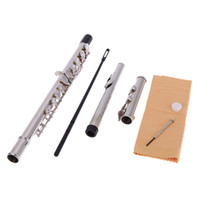 Wholesale 16 Holes C Key Western Concert Flute Silver Plated Cupronickel Woodwind Instrument I524