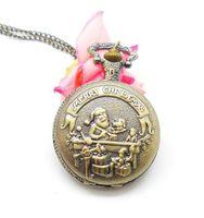 antique santa claus - 2015 Reloj De Bolsillo Vine Christmas Santa Claus Fashion Quartz Antique Watch Pocket Best Gift For Ladies Dropship
