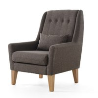 accent arm chair - Upholstery Fabric Sofa Design Living Room Furniture Modern Relax Accent Arm Chair Legs Wood Finish Leisure Single Sofa Chair