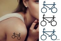 bicycle temporary tattoos - HC105 Bike Bicycle Temporary Tattoo Stickers Temporary Body Art Waterproof Tattoo Sticker