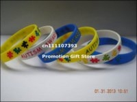 awareness rubber bracelets - UTISM AWARENESS WRISTBAND Silicon Bracelet Filled in Colour silicon bracelet silicone wristbands rubber bra