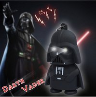 plastic pendant lights - Christmas Cartoon Star Wars Darth Vader Keychain LED Luminous Music light sound keyring Creative Chain Key flashlight Pendant Accessories
