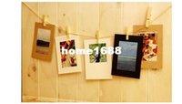 Venta al por mayor marco de cartón Baratos-El envío libre (20 PC / porción) de cartón imitación 6 pulgadas a color Imagen divertidas fotos marco con un clip para cada PC, venta al por mayor /.