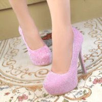 Wholesale 2015 New Hot Sell Women girl Lady High Heel Shoes Bridal Wedding dress Shoes for Party Gown
