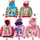 full zip hoodie - Trade girls boys my little pony zip hoodie jacket coat cute cartoon kids terry casual Sweatshirts children clothing new