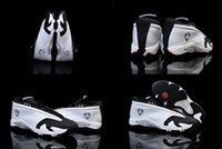 Wholesale 6 Colours With Box High Quality Retro XIV Low White Black Toe Men Basketball Sport Trainers Shoes