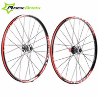 Wholesale WHEEL UP Bicycle MTB quot Wheels Aluminum Alloy Wheels Rims Lightweight Carbon Hub Flat Spokes Package Black Red Styles