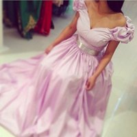 Cheap 2015 arabic evening gown Best cap sleeve a line prom dress