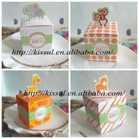 baby themed candy - Baby birthday Gift box of Jungle Themed baby Favor Boxes with Animal designs baby shower favor Candy boxes