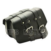 Wholesale Motorcycle Leather Side Bag Solo Bag For Harley sportster XL883 XL1200 Model