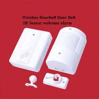 Wholesale Infrared Sensor Wireless Doorbell Wireless Access Control Doorbell Door Bell IR Welcome Alarm