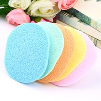 Wholesale Natural Wood Fiber Face Wash Cleansing Sponge Beauty Makeup Tools Accessories High Quality