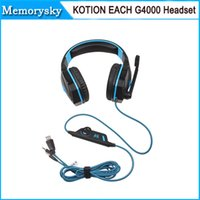 best pc mic - KOTION EACH G4000 Best Sell Stereo Noise Cancelling Gaming Headset w Mic HiFi Driver LED Light For PC Red Black High Quality hot