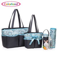Wholesale 2016 Baby diaper bags for mom baby travel nappy handbag New Arrival baby diaper bags for stroll high quality diaper bag set microfibe