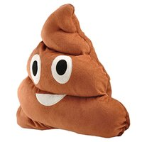 Wholesale S5Q Cute Funny Emoji Cushion Poo Shape Toy Pillow Stuffed Plush Doll Pillow Gift AAAELJ