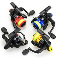 Wholesale JL200 BB Plastic Front Drag Fishing Reels Left Right Interchangable Ice fishing Spinning Reel Fake Bait Small Reel With Fishing Line