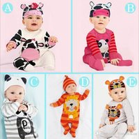 Wholesale 2016 New Spring Autumn Long Sleeve Cotton animal Kids Clothes Baby One piece Children Clothing Romper Boys Girls Rompers Jumpsuit