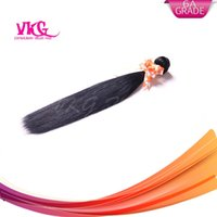 Wholesale human hair extensions A Peruvian Virgin Hair Silky Straight Unprocessed Human Hair Weave Extensions