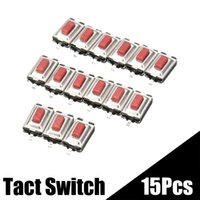 Cheap Hot Sale 15 PCS Micro SMD Tact Switch DC12V 2 Pins Tactile Push Button Momentary Switchs 3x6x2.5mm