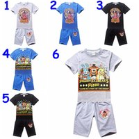 cotton night shirt - Cuhk child Five Nights at Freddy s suit children cotton cartoon short sleeve T shirt pants outfit sets