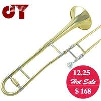 Professionnel JINYIN JYTB-E100 trombone supérieur B plat trompette en laiton laqué en laiton instrument à vent avec embouchure et étui en trombone