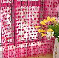 Wholesale 20PCS HHA104 heart shaped Curtain Details about Window Room Divider Curtain Valance Heart Line Tassel String Door Curtain New