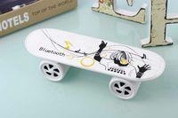 mini skateboard - New arrival Retail box Best Skateboard Bluetooth Wireless Speaker Mobile Audio Mini Portable Speakers