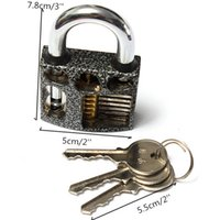 Wholesale 7 CM Locksmith Beginner Cutaway inside view open chambers of Practice Padlock Lock training Skill Tool