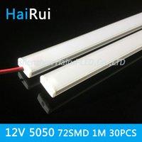 aluminium flat bars - pcsx100cm DC12V SMD kitchen under cabinet led lightin LED Hard Rigid LED Strip Bar Light U aluminium flat cover