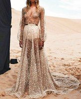 Wholesale Europe Womens new summer dress and long slim elegant dress sparkling mesh