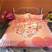 bedding textile suppliers - DY qm5_5 Pink Flower Home Textile Bedding Suppliers And Bedding Sets For Girls New Style First class Quality