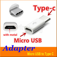 Wholesale Micro USB to USB Type C USB Data Adapter connector For Note7 new MacBook ChromeBook Pixel Nexus X P Nexus P Nokia N1