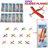 Precio de Planeadores de bricolaje-El vuelo del plano de la espuma planea el aeroplano de DIY embroma los juguetes educativos, juguetes de los rompecabezas de DIY con el bolso del paquete, 12 PC / sistema