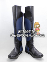 Costume Accessories Others Others Wholesale-Masked Rider Ryuki Kamen Rider Dragon Knight black blue ver cos Cosplay Shoes Boots shoe boot #JZ1624 anime Halloween Christmas