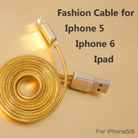 apple phone products - Fashion Golden Charger Cable String for Iphone s Ipad Apple Product Strong Triple Protection Smart Phone Cables